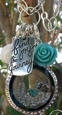 Origami Owl | Large Silver Locket with Crystals | Find Joy in the Journey TAG!  Order today online or Book a Part @ Contact me on Facebook: Origami Owl - Perrie Medlin Independent Designer7735