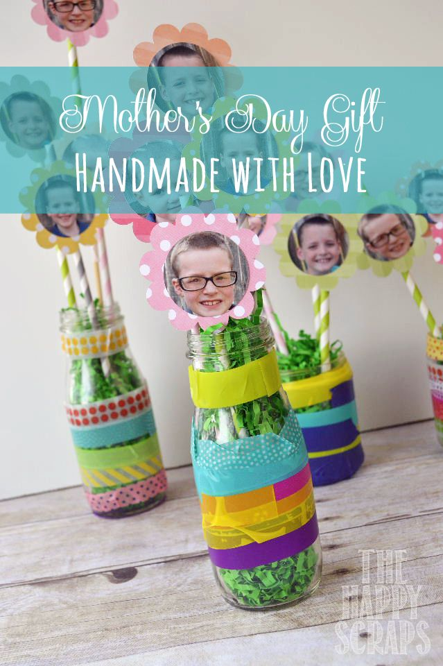 Mother's Day Gift Idea.  Handmade by kids with love.  www.thehappyscraps.com #mothersday #thehappyscraps