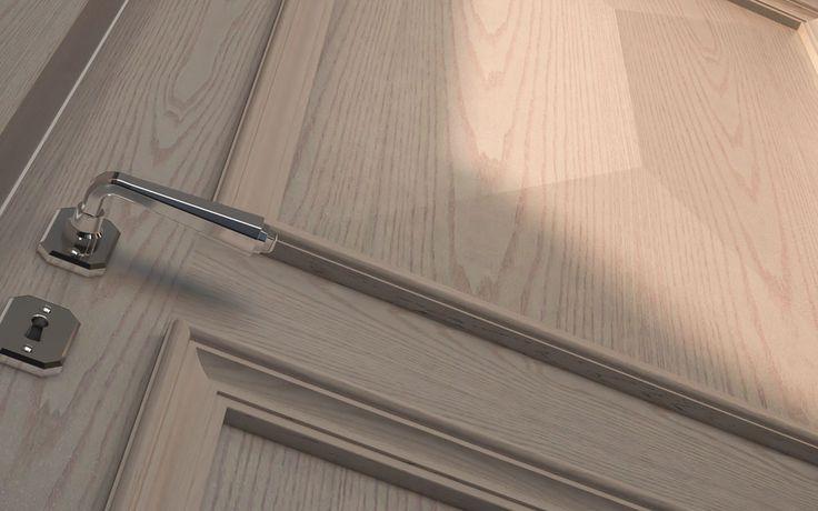 FBP porte | Collezione Vittoria: Dettaglio fermabugna di serie - Standard stop frame. #porta #legno #madeinitaly #ottocentostyle #wooden #door