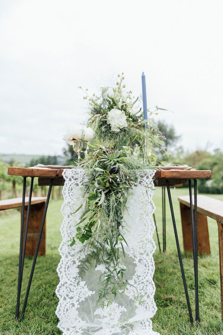 Soft & Romantic Vineyard Bridal Shoot With Dusty Blues & Greys!