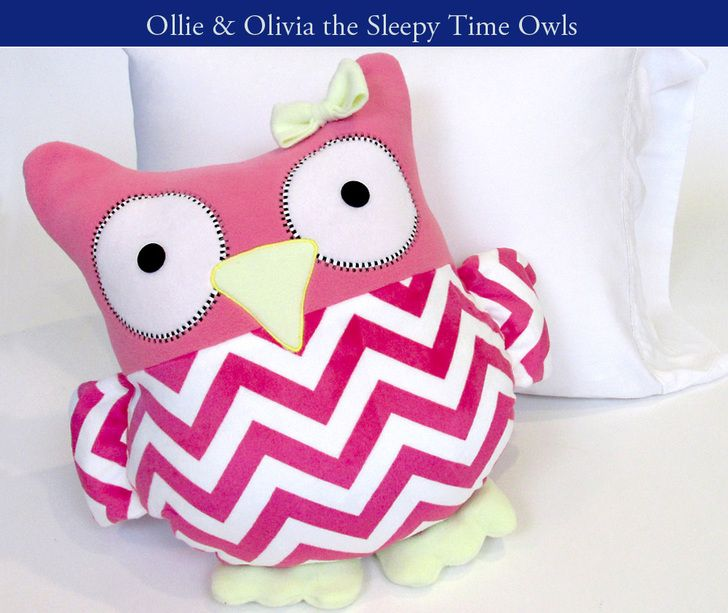 Sleepy Time Stuffed Owls Tutorial | Sew4Home