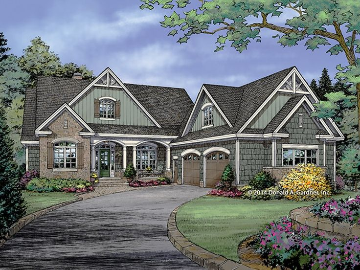 Craftsman Style Home Plan with 2993 Square Feet and 4 Bedrooms from Dream Home Source | House Plan Code DHSW077453