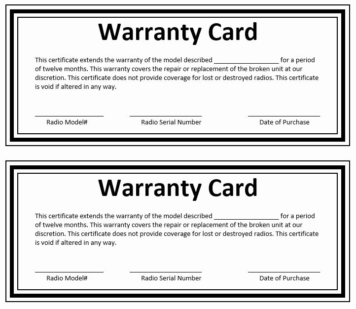 30 Construction Warranty Form Template In 2020 Word Template