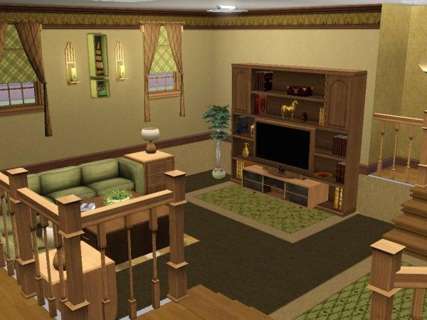 Living area i don 39 t have a life but my sims do for Living room ideas sims 3
