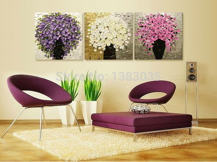 7 best Abstract Flower Wall Art images on Pinterest   Oil on canvas ...