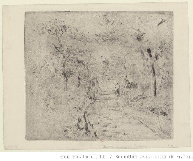 Dans les champs à Ennery : [estampe] / [Camille Pissarro] - 1