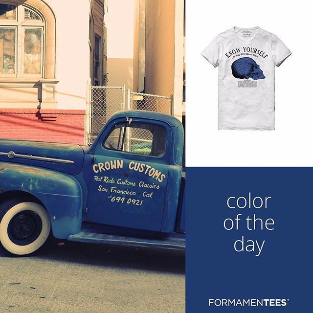 Equilibrato, pacato, e sensibile: tre aggettivi per chi ama il Blu! #coloroftheday #blue #tshirt #instacolors #peace #skylovers #seaside #vintage #style #swag #instafashion #cute #bestoftheday #love #colors #l4l #igers #instagood