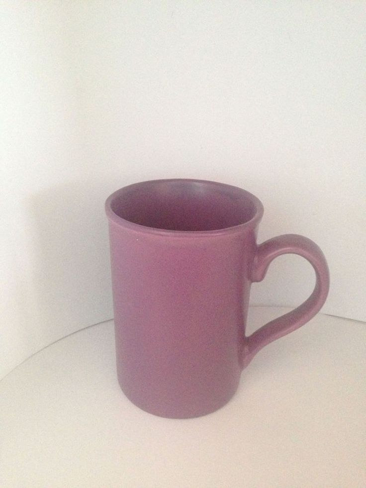 Purple Coffee Cup Mug Good Condition #unknown