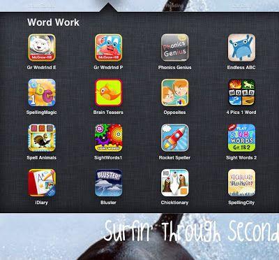 Grammar Wonderland, Phonics Genius, Spelling Magic, Spell Animals, Sight Words and Spelling City iPad Apps for Word Work