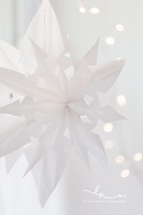 Weihnachtszeit, DIY, Papiersterne Aus Butterbrotbeuteln, Rosenresli,  Lillemor Fotografie Bietigheim Bissingen