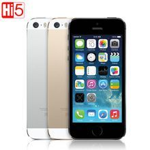 US $157.40 Apple iphone 5s Unlocked Mobile Phone IOS Touch ID 4.0'' 16GB / 32GB ROM WCDMA WiFi GPS 8MP Fingerprint free shipping. Aliexpress product