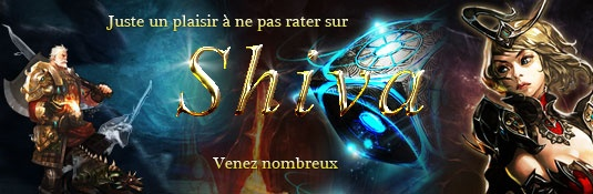 Shiva-Rappelz 7.3 - Private Rappelz Server: Rupy minimum par drop : 6,000R  Item Drop x10  Drop Lack x20  XP personnage x11  XP groupe X2  Option : Cooltime