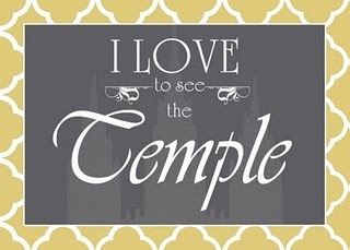 I love to see the temple . . . other free LDS ish printables there, too.