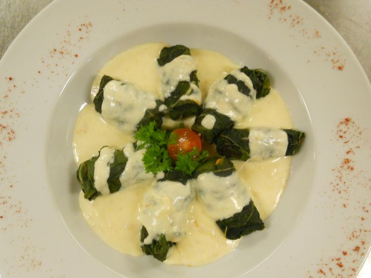 """typical dish from the eastern part of Switzerland """"Capuns"""""""