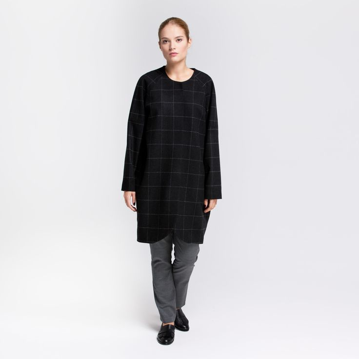 Yra Coat Graphite Check Elementy #yra #coat #oversize #wool #graphite #check #elementy #polishfashion #classic #minimal #simplicity #plaszcz #polskamoda #wełna #minimalizm #aw16