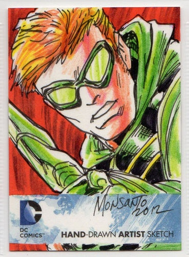 DC Comics New 52 Hand Drawn Artist Sketch Green Arrow by Gilbert Monsanto 1 1 | eBay: Green Arrow, Sketch Cards, Dc Comics, Sketch Green, Artists Sketch