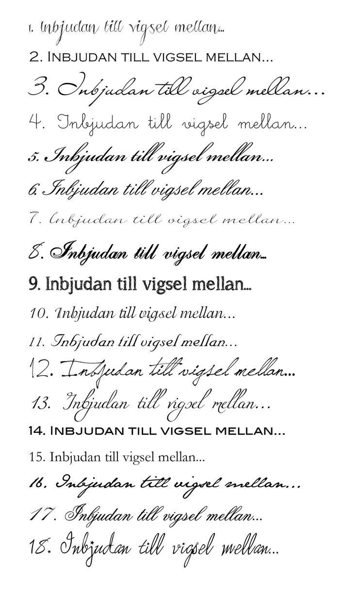Pappersboden Anna Göran Design: 18 vackra typsnitt