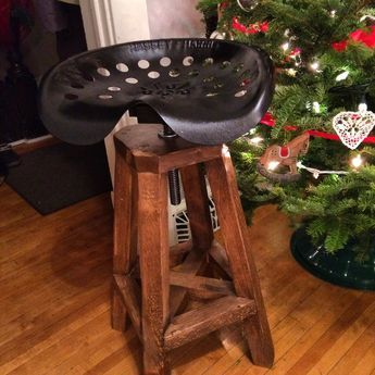 Tractor Seat stool | Do It Yourself Home Projects from Ana White