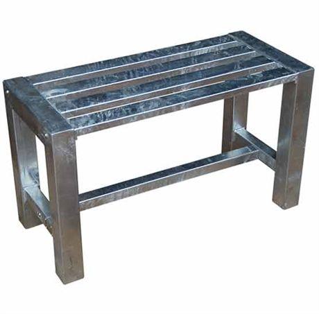 Galvaniserad bänk i 4 längder och smala ben från A2 Living