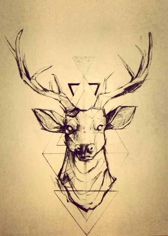 """Résultat de recherche d'images pour """"tatouage cerf homme"""""""