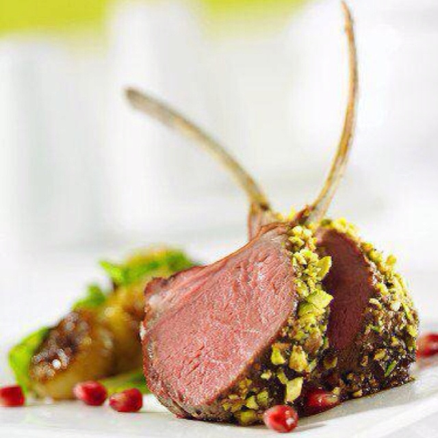 Pistachio crusted lamb chops Matched beautifully w Duxoup Charbono c/o ...