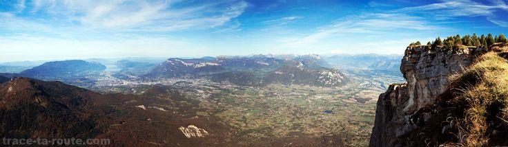 Chambéry et Massif des Bauges depuis le Mont GRANIER, Massif de la Chartreuse Savoie Montagne