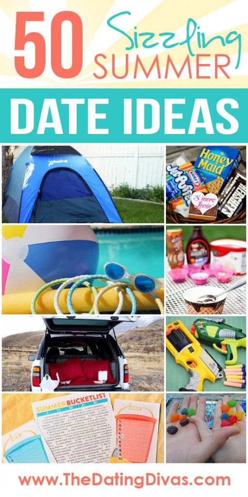 50 Sizzling Summer Date Ideas some are good but some are horrible ideas.