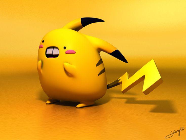 Cute 3D Pokemon characters by Swiney