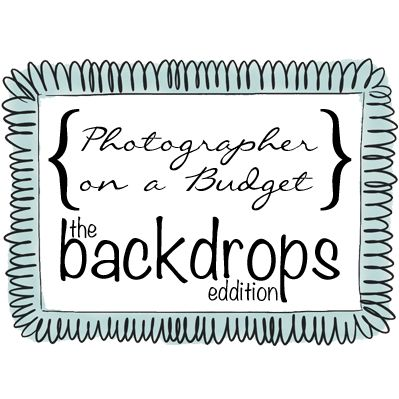 {Photographer on a Budget} Three tips on how to get cheap photography backdrops for the thrifty photographer