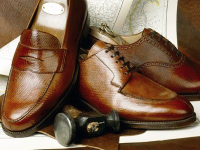 """New & Lingwood's Russian Calf Shoes ($1,550). This circa-1865 label makes shoes from Reindeer leather have have been """"cured in baths of rye, oat flour and yeast, hand-finished and soaked."""