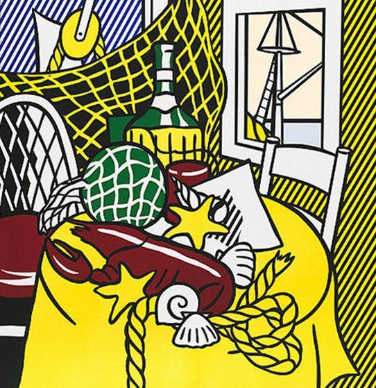 Still Life With Lobster 1974 by Roy Lichtenstein