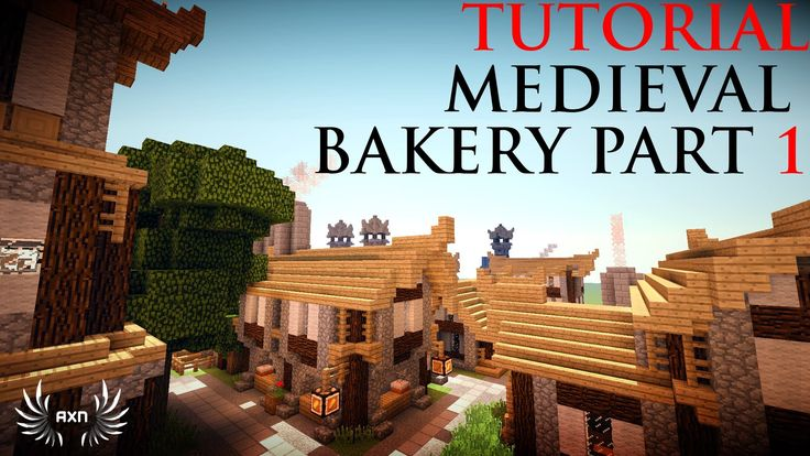Minecraft Tutorials - Medieval Bakery (Part 1/2)