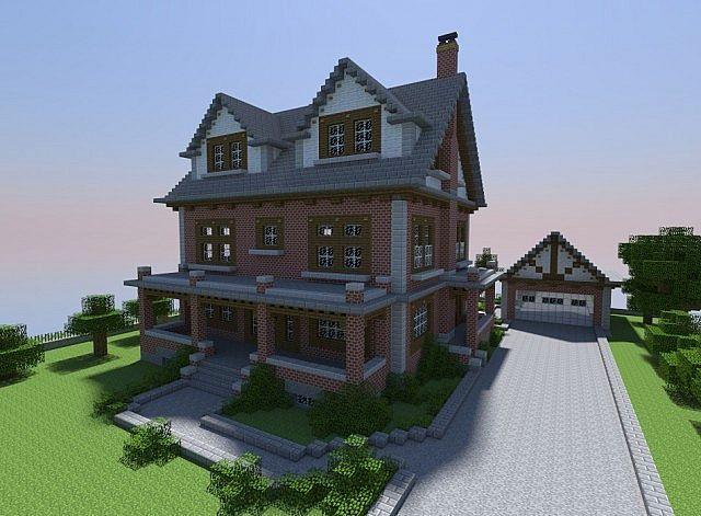 Late 1800 39 s style brick house minecraft project and i see for Really nice mansions