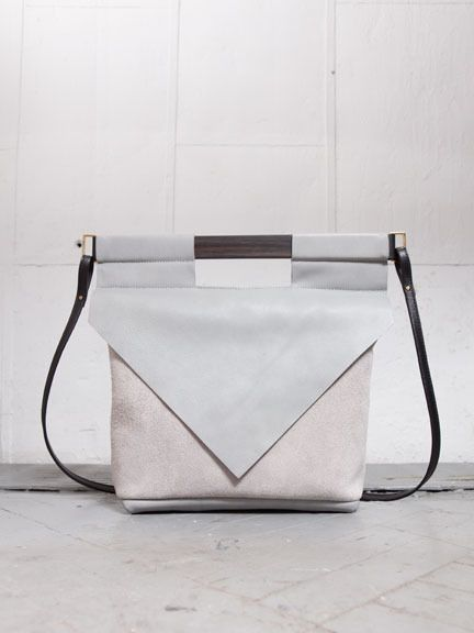 Get this: This Chiyome bag is made from the front and back sides of the same leather. Feeling it. —erica