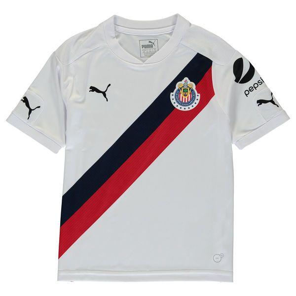 Chivas Puma Youth 2016/17 Away Replica Jersey - White/Red - $69.99