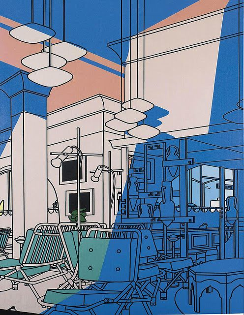 English painter and print maker Patrick Caulfield