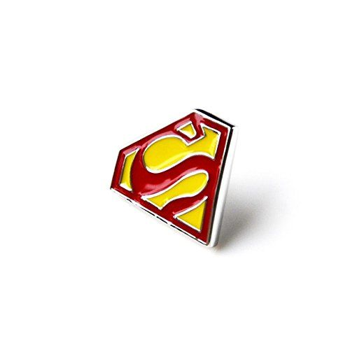 Superman Lapel Pin, Hat Pin, Gifts For Men, Presents For Teens, Gift Box Included