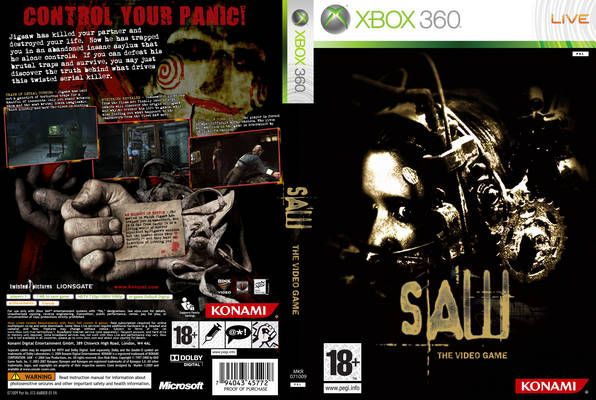 Saw The Video Game Pal Custom Back Xbox 360 Cover All