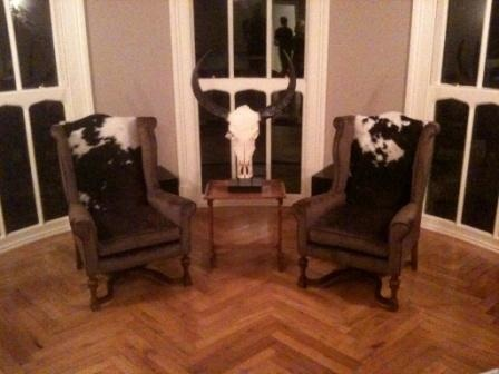 Cowhide wingchairs