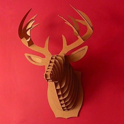 Cabeza de Ciervo de Cartón Mediana, 'Buck Jr'