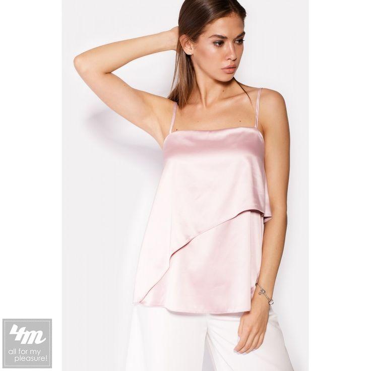 Топ Cardo «FETTA» (нежно-розовый) http://lnk.al/4QXP  Столь женственный нежно-розовый цвет особенно превосходно смотрится на переливах атласной ткани. Топик с тонкими бретелями, длину которых можно легко отрегулировать. Второй слой топа имеет ассиметричный крой, создавая эффект движения.  #футболка #футболкаженская #футболкаспринтом #футболкакупить #футболкаукраина #футболки #футболкиукраина #футболкиженские #футболкиспринтом #футболкапринт #футболкихарьков #футболочки #женскиефутболки…