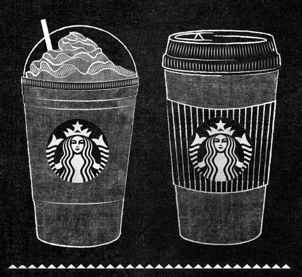 Starbucks Chalkboard Roast Guide Mural by Jaymie McAmmond - WE AND THE COLOR