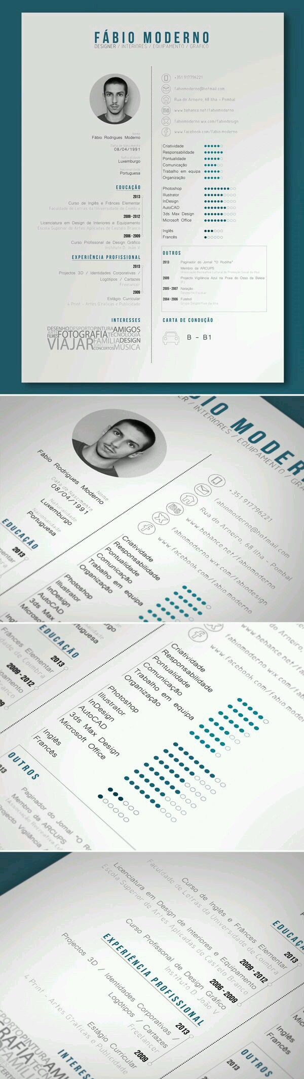 130 best CV images on Pinterest | Cv template, Resume templates and ...