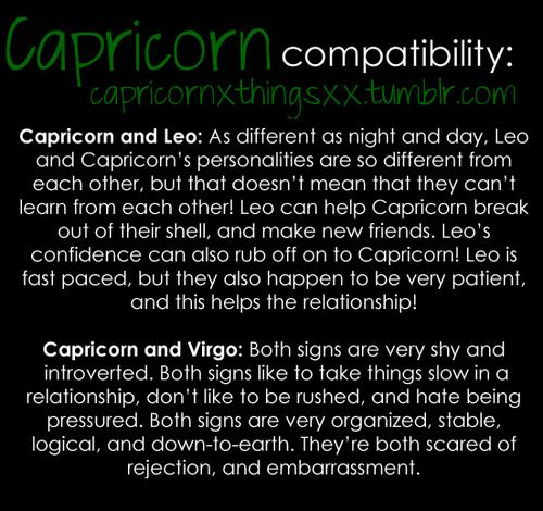 leo and capricorn match making Love match compatibility between leo woman and capricorn man read about the leo female love relationship with capricorn male.