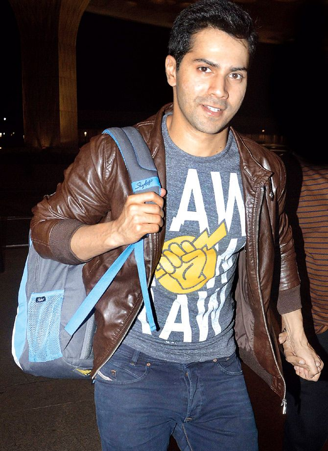 Varun Dhawan at the airport. #Bollywood #Fashion #Style #Handsome