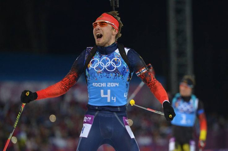 Anton Shipulin secures gold for Russia in Men's Relay in Sochi.