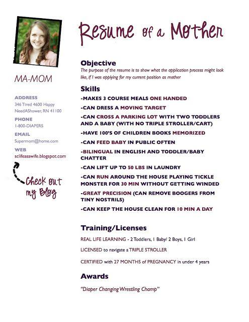 Sample Resumes For Stay Home Moms Returning Work Basic Example resume for  stay home mom returning