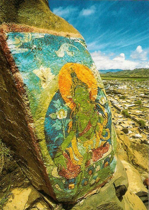 Green Tara overlooking Tibet~Arielle Gabriel's new book is about miracles and her everyday life suffering financial ruin in Hong Kong The Goddess of Mercy & The Dept of Miracles, uniquely combines mysticism and realism *