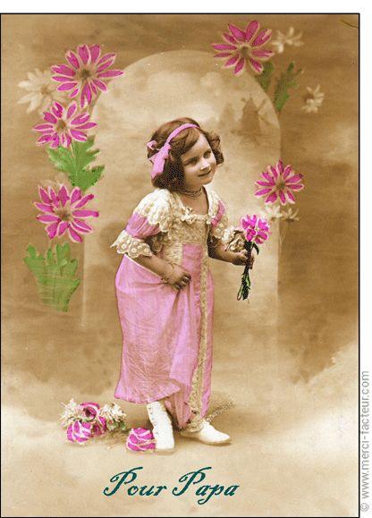 Carte Des fleurs pour papa pour envoyer par La Poste, sur Merci-Facteur ! La fête des pères arrive dans quelques jours...  Envoyez en quelques clics une jolie carte :) http://www.merci-facteur.com/carte-fete-des-peres.html #carte #fetedesperes #papa