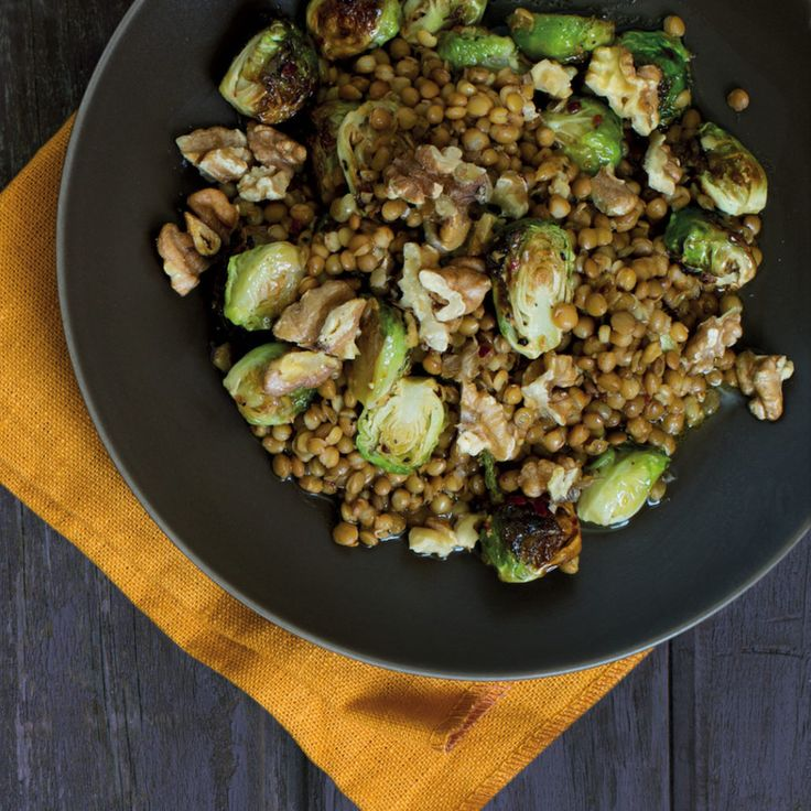 Warm lentil and Brussels sprout salad - MyKitchen